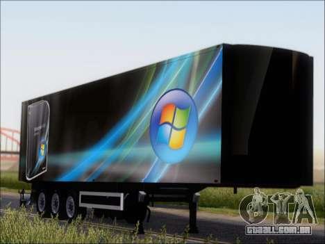 Прицеп Windows Vista Ultimate para GTA San Andreas