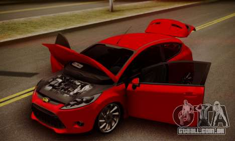 Ford Fiesta Turkey Drift Edition para GTA San Andreas vista traseira