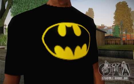 Batman Swag Shirt para GTA San Andreas terceira tela