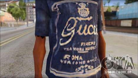 Gucci T-Shirt para GTA San Andreas terceira tela