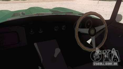 Jaguar E-Type para GTA San Andreas traseira esquerda vista