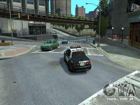 Ford Crown Victoria Police NYPD 2014 para GTA 4 traseira esquerda vista