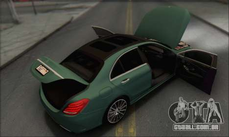 Mercedes-Benz C250 V1.0 2014 para o motor de GTA San Andreas