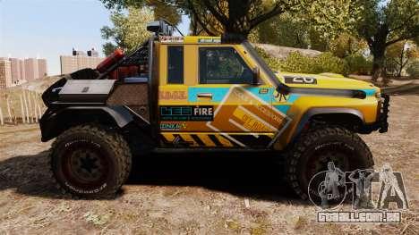 Nissan Patrol Buggy para GTA 4 esquerda vista