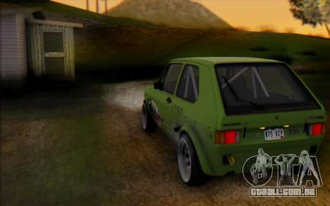 Volkswagen Golf Mk I para GTA San Andreas traseira esquerda vista