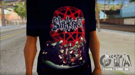 SlipKnoT T-Shirt v3 para GTA San Andreas terceira tela