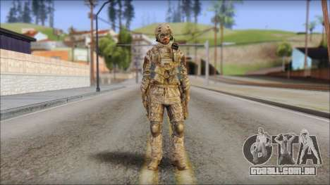 Desert SFOD from Soldier Front 2 para GTA San Andreas