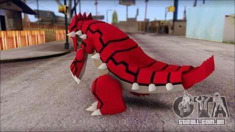 Groudon Pokemon para GTA San Andreas segunda tela