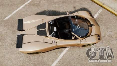 Pagani Zonda C12S Roadster 2001 v1.1 para GTA 4 vista direita