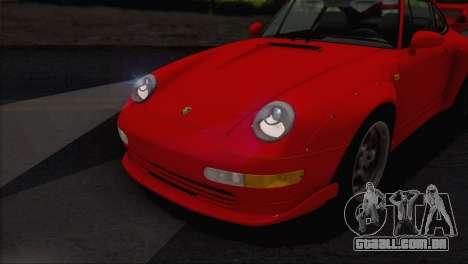 Porsche 911 GT2 (993) 1995 V1.0 EU Plate para GTA San Andreas vista inferior