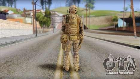 Desert SFOD from Soldier Front 2 para GTA San Andreas segunda tela