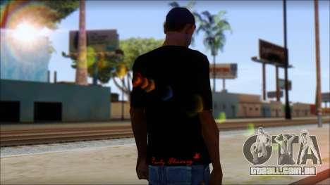 Ed Hardy Lion T-Shirt para GTA San Andreas segunda tela