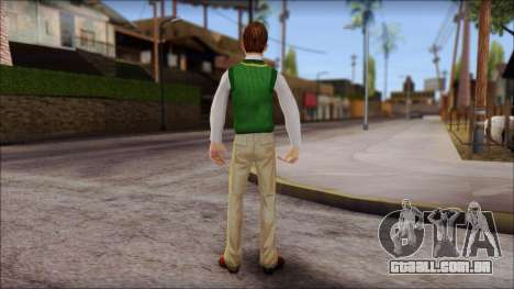 Donald from Bully Scholarship Edition para GTA San Andreas terceira tela