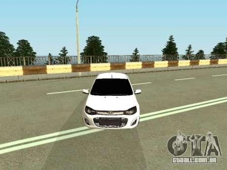 Lada Kalina 2 para GTA San Andreas vista traseira