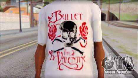 Bullet For My Valentine White Fan T-Shirt para GTA San Andreas terceira tela