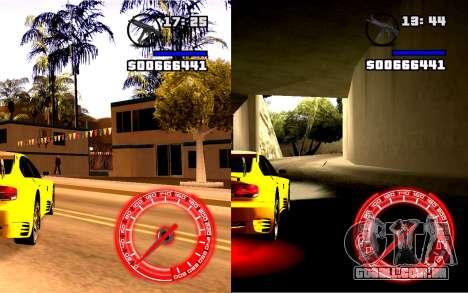 Velocímetro Conceito StyleV16x9 para GTA San Andreas segunda tela
