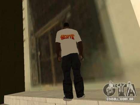 T-Shirt Professor para GTA San Andreas segunda tela