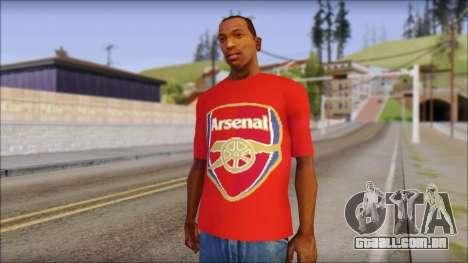 Arsenal T-Shirt para GTA San Andreas