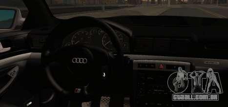 Audi S4 Stock 2000 para GTA San Andreas vista direita