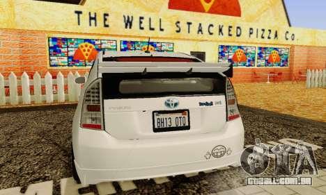 Toyota Prius Tunable para GTA San Andreas vista superior