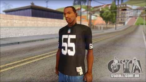 Oakland Raiders 55 McClain Black T-Shirt para GTA San Andreas