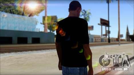 Black Sabbath T-Shirt v1 para GTA San Andreas segunda tela