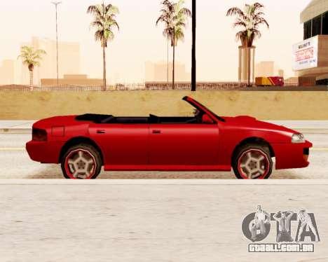 Sultan Conversível para GTA San Andreas esquerda vista