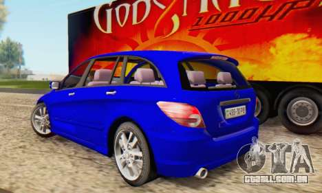Mercedes-Benz R350 para GTA San Andreas esquerda vista