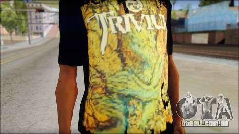 Trivium T-Shirt Mod para GTA San Andreas terceira tela