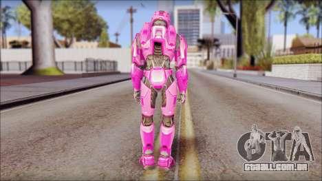 Masterchief Pink from Halo para GTA San Andreas terceira tela