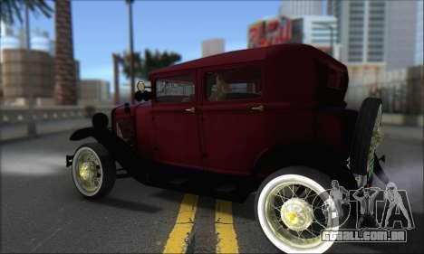 Ford A 1930 para GTA San Andreas traseira esquerda vista