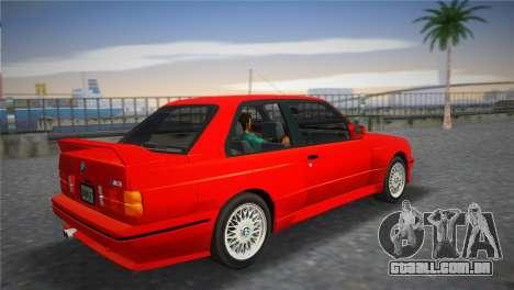 BMW M3 (E30) 1987 para GTA Vice City deixou vista