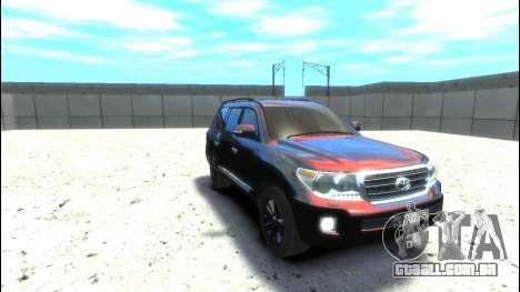 Toyota Land Cruiser 200 2013 para GTA 4 traseira esquerda vista