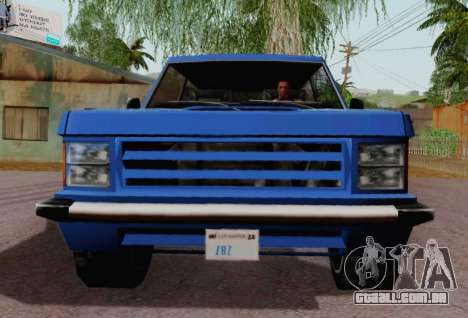 Huntley Coupe para GTA San Andreas vista traseira
