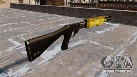 Arma Franchi SPAS-12 de Ouro para GTA 4 segundo screenshot