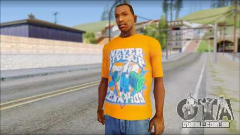 John Cena Orange T-Shirt para GTA San Andreas