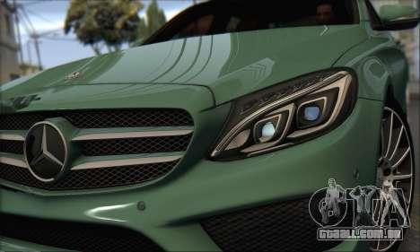 Mercedes-Benz C250 V1.0 2014 para GTA San Andreas esquerda vista