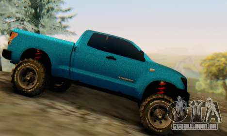 Toyota Tundra OFF Road Tuning Blue Star para GTA San Andreas esquerda vista
