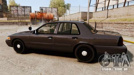 Ford Crown Victoria Sheriff [ELS] Unmarked para GTA 4 esquerda vista