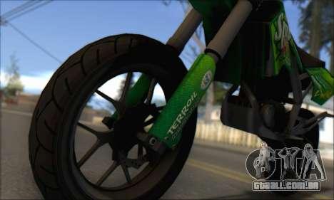 Sanchez from GTA V - Supermoto para GTA San Andreas traseira esquerda vista