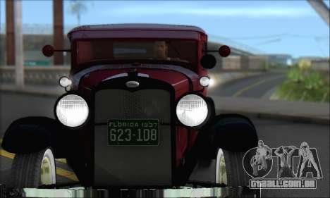 Ford A 1930 para GTA San Andreas esquerda vista