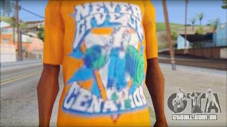 John Cena Orange T-Shirt para GTA San Andreas terceira tela