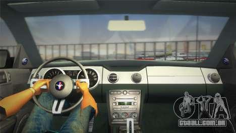 Ford Mustang GT 2005 para GTA Vice City vista direita