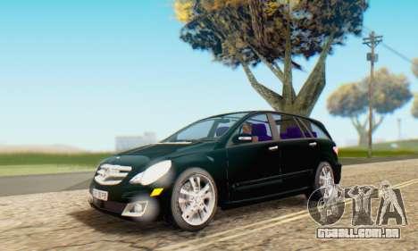 Mercedes-Benz R350 para GTA San Andreas interior