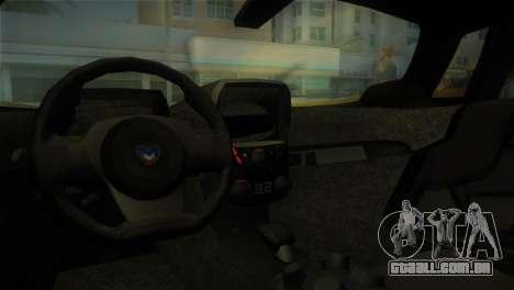 Marussia B2 2010 para GTA Vice City vista direita