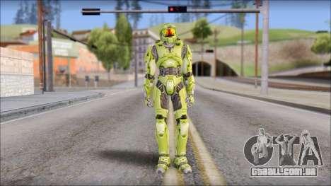 Masterchief Green from Halo para GTA San Andreas segunda tela