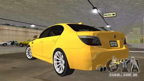 BMW M5 E60 para GTA Vice City deixou vista