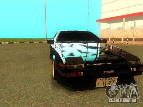 Toyota Corolla AE86 Trueno JDM para GTA San Andreas esquerda vista