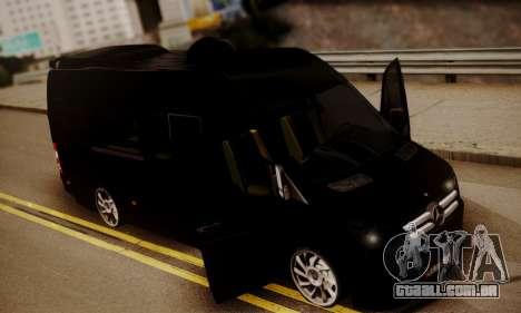 Mercedes-Benz Sprinter 315 CDi para GTA San Andreas vista interior
