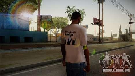 All You Need Is Hands Up T-Shirt para GTA San Andreas segunda tela